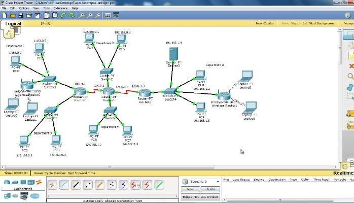 نرم افزار شبیه ساز شبکه سیسکوPacket Tracer